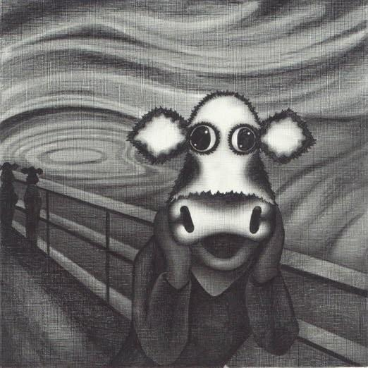 Study Of The Moo by Caroline Shotton