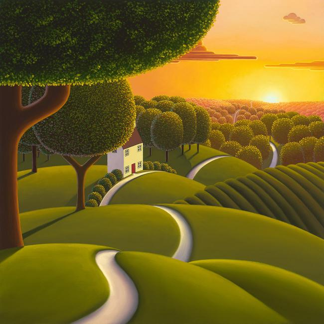 Sunlight Over the Tree Tops by Paul Corfield