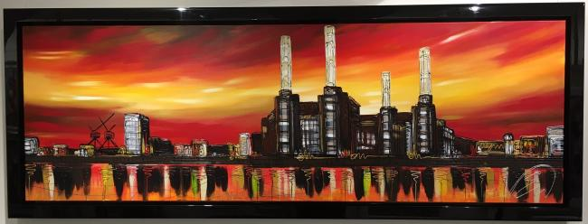 Sunset Battersea by Edward Waite