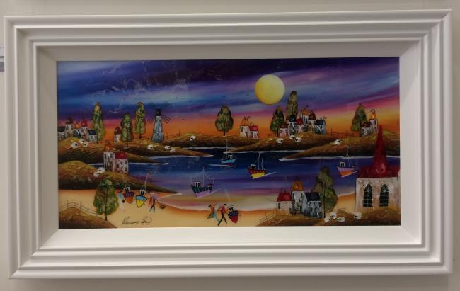 Sunset Over The Harbour (36 x 18) by Rozanne Bell