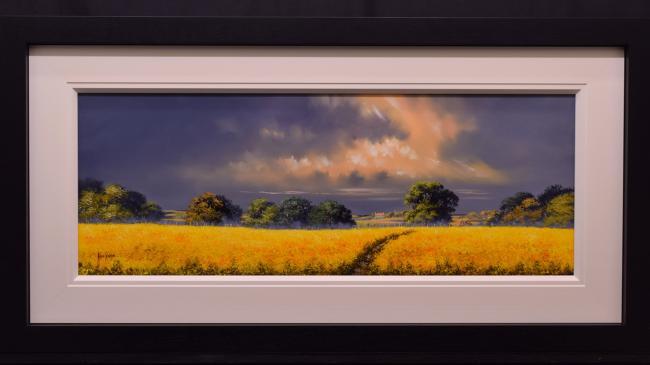 Sunshine Fields (40 x 15) by Allan Morgan