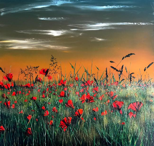 Poppies & Grasses by Kimberley Harris