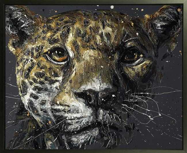 Ted- Hand Embellished Canvas by Paul Oz