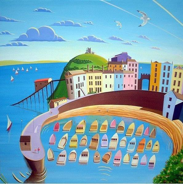 Tenby Harbour by Derrick Fielding
