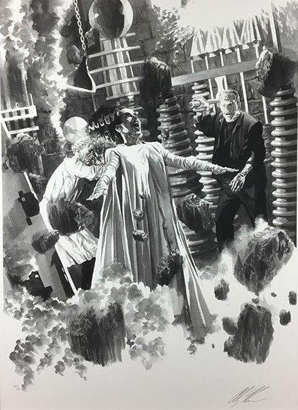 The Bride of Frankenstein - Universal Monsters Collectionby Alex Ross