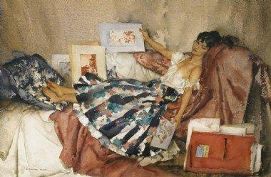The Red Portfolio by Russell Flint