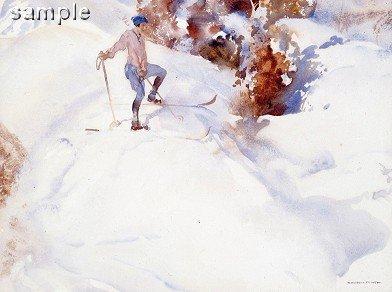 The Skier, Switzerland by Russell Flint