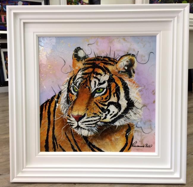 Tiger (24 x 24) by Roz Bell