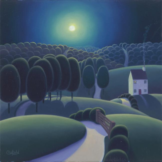 Tree Lined Country Laines by Paul Corfield
