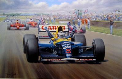 Victory - Nigel Mansell by Tony Smith
