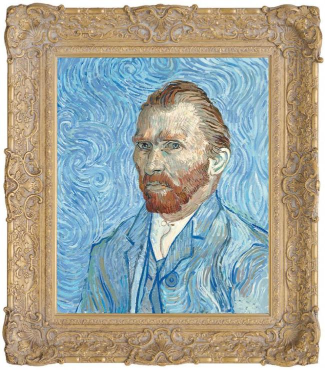 Vincent Van Gogh, Self Portrait Remy 1889 by John Myatt