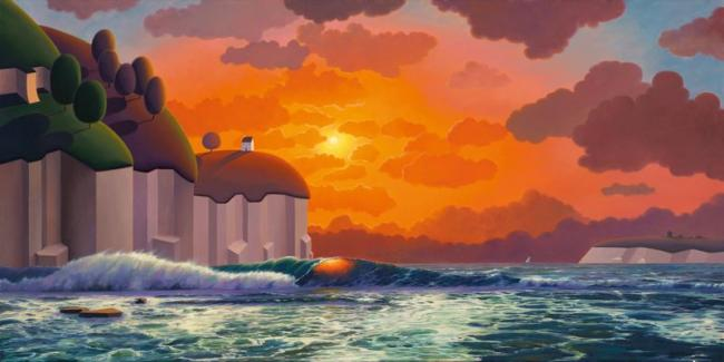 Watching the Waves Roll In by Paul Corfield