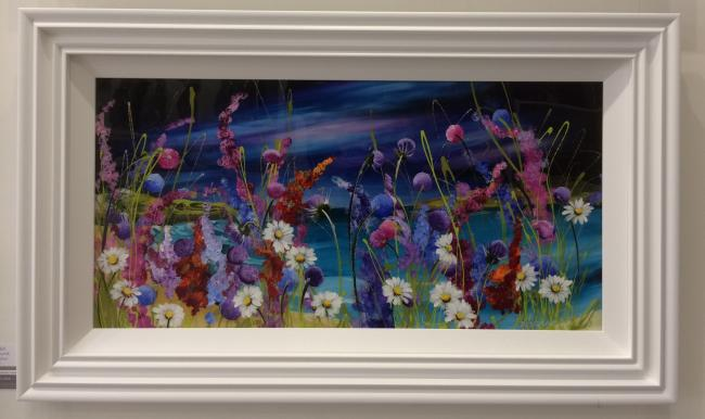 Wild Flowers (36 x 18) by Rozanne Bell