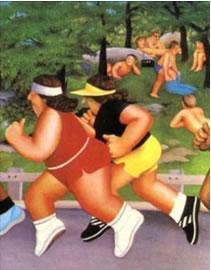 Women Running by Beryl Cook
