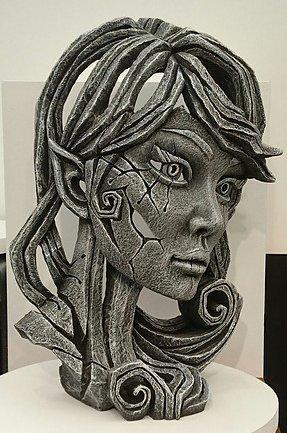 Wood Elf Bust - Mistral by Edge Sculptures by Matt Buckley
