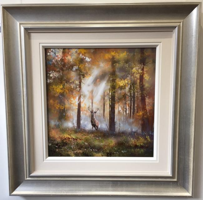 Woodland Stag II by Allan Morgan