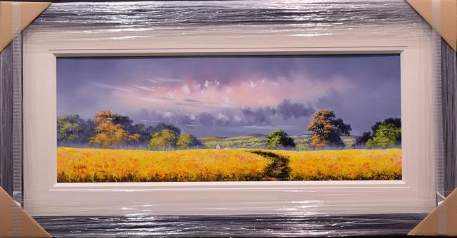 Yellow Field (15x40) by Allan Morgan