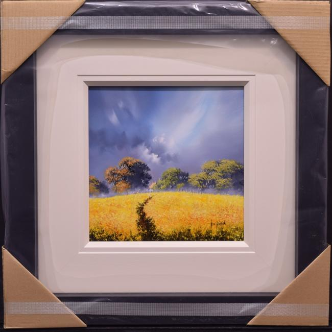 Yellow Landscape (12x12) by Allan Morgan