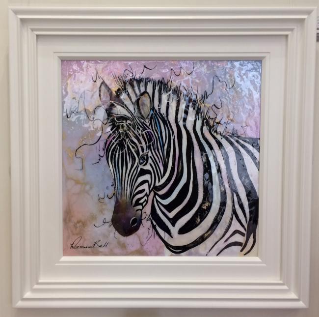 Zebra  (24 x 24) by Roz Bell
