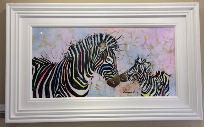 Zebras (36 x 18) by Roz Bell