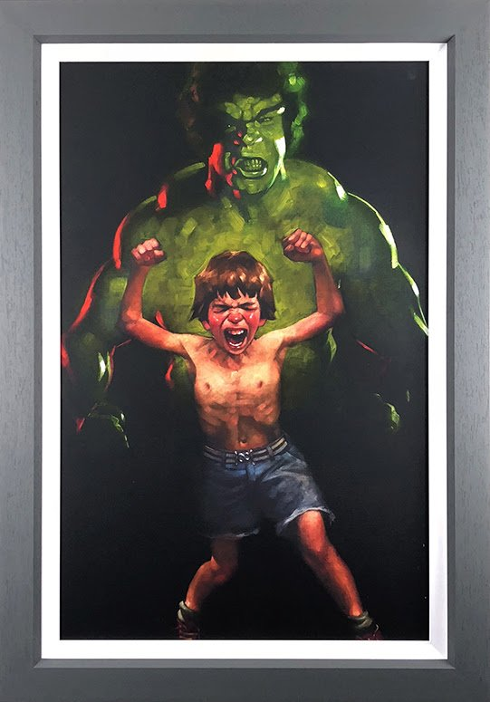 Dr Bruce Banner is Bathed in the Full Force of the Mysterious Gamma Rays - Canvas by Craig Davison