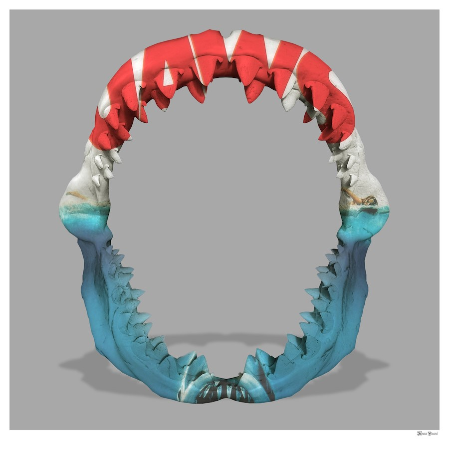 Jaws- Small by Monica Vincent