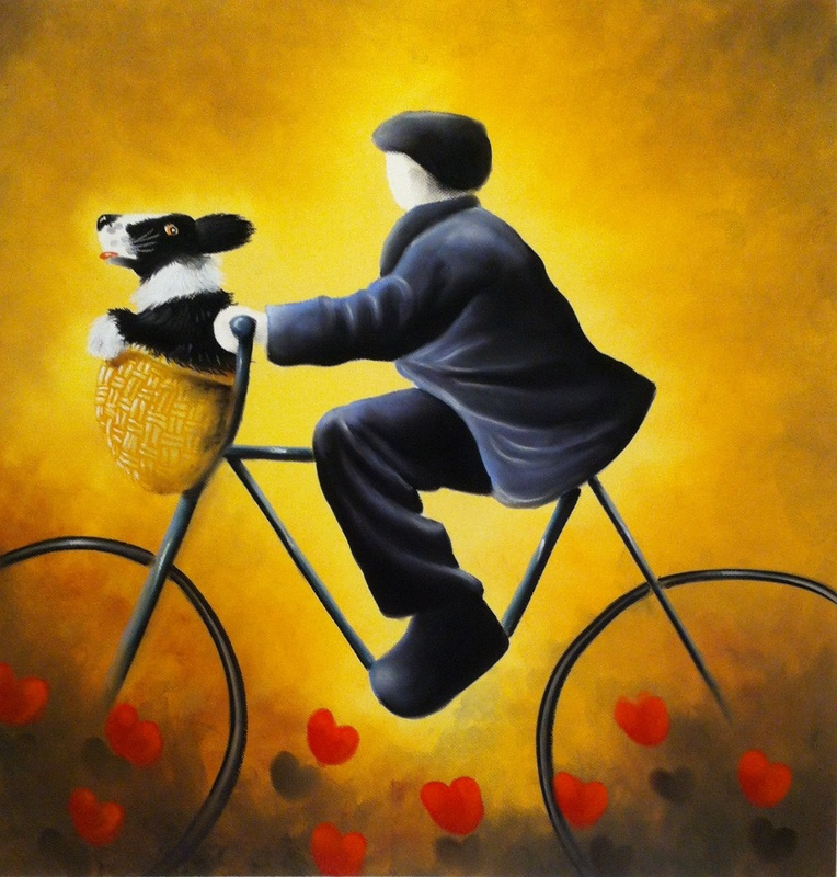 A Bicycle Made For Two by Mackenzie Thorpe