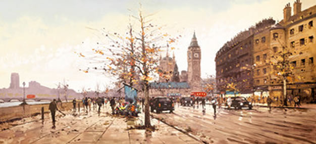 Afternoon on the Embankment by Henderson Cisz