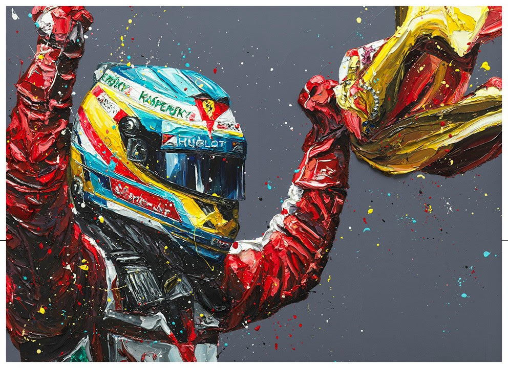 Alonso Spain- Canvas by Paul Oz