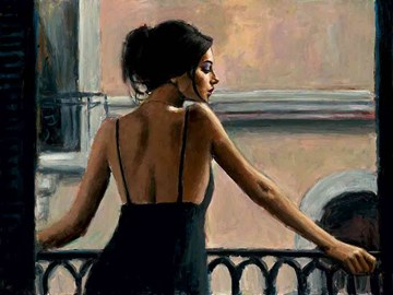 Balcony at Buenos Aires VI by Fabian Perez