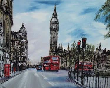 Big Ben Red Bus - Original to Westminster by Paul Kenton