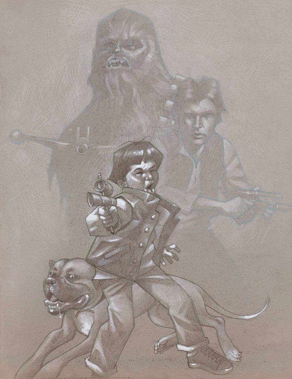 Blast Em Chewy - Sketch by Craig Davison