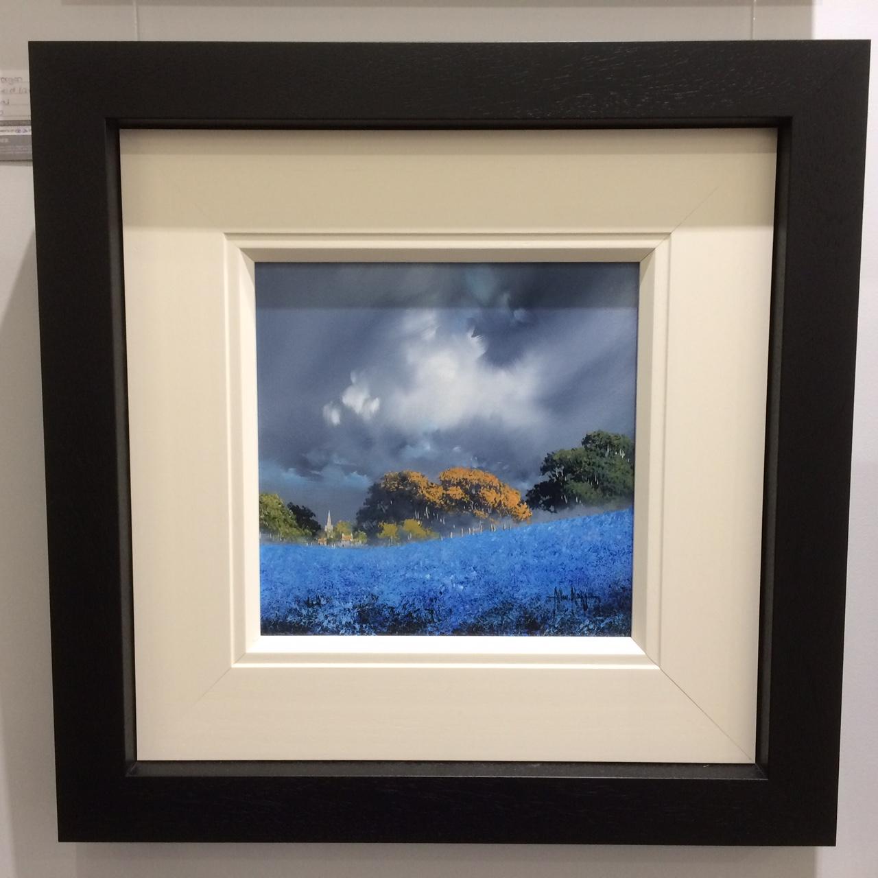 Blue Field II (12x12) by Allan Morgan