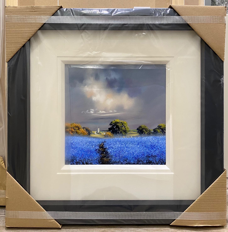 Blue Field IV(12x12) by Allan Morgan