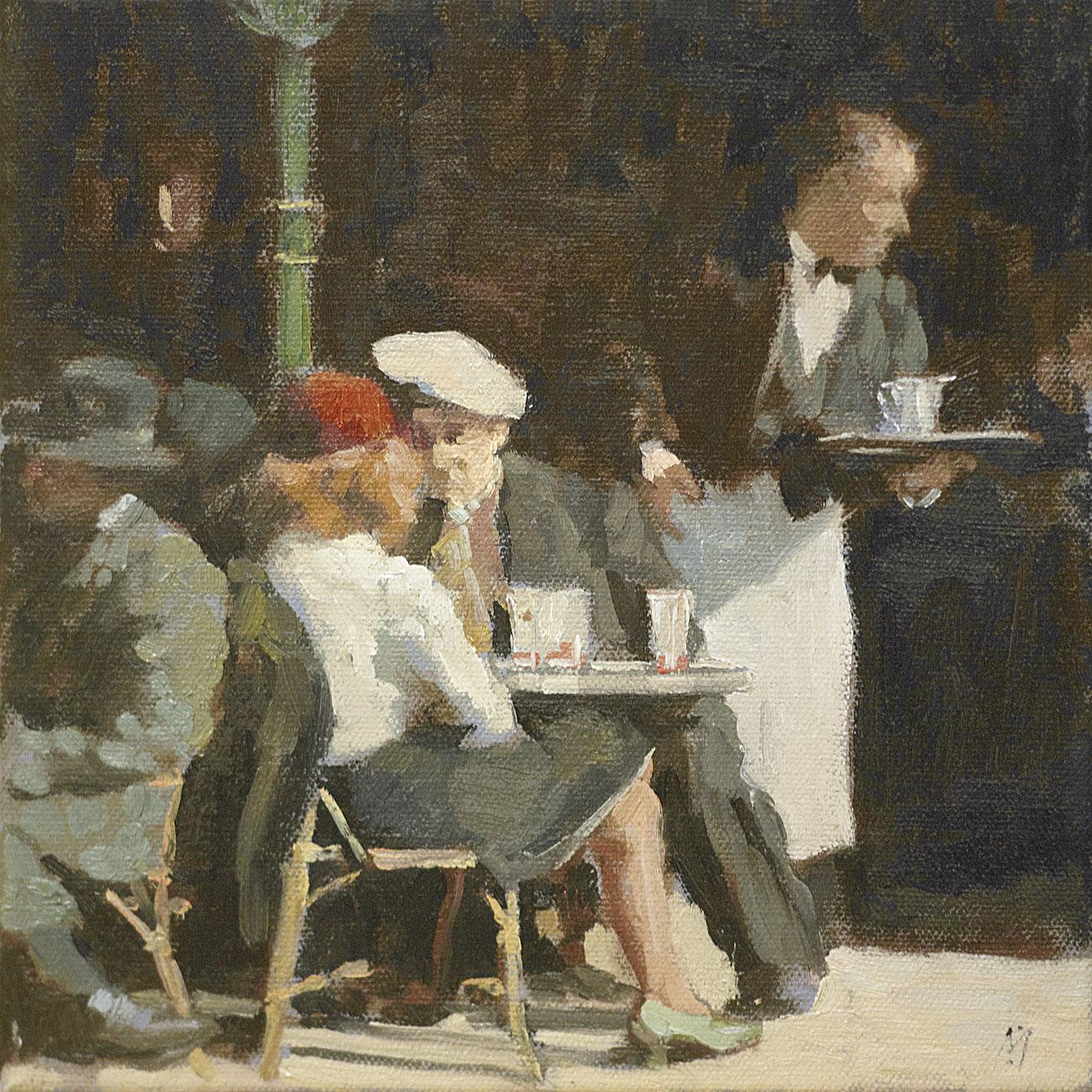 Busy Waiter by Nigel Mason