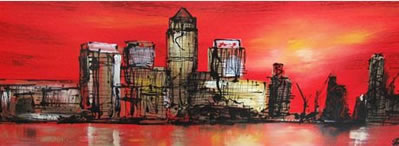 Crimson Night On Gold by Paul Kenton