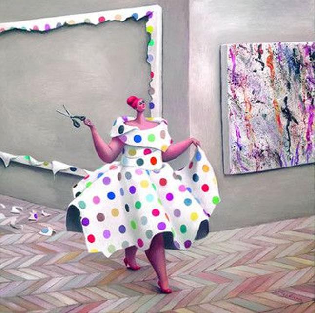 Damien's Dress - Canvas by Sarah Jane Szikora