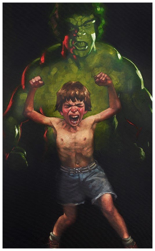 Dr Bruce Banner is Bathed in the Full Force of the Mysterious Gamma Rays by Craig Davison
