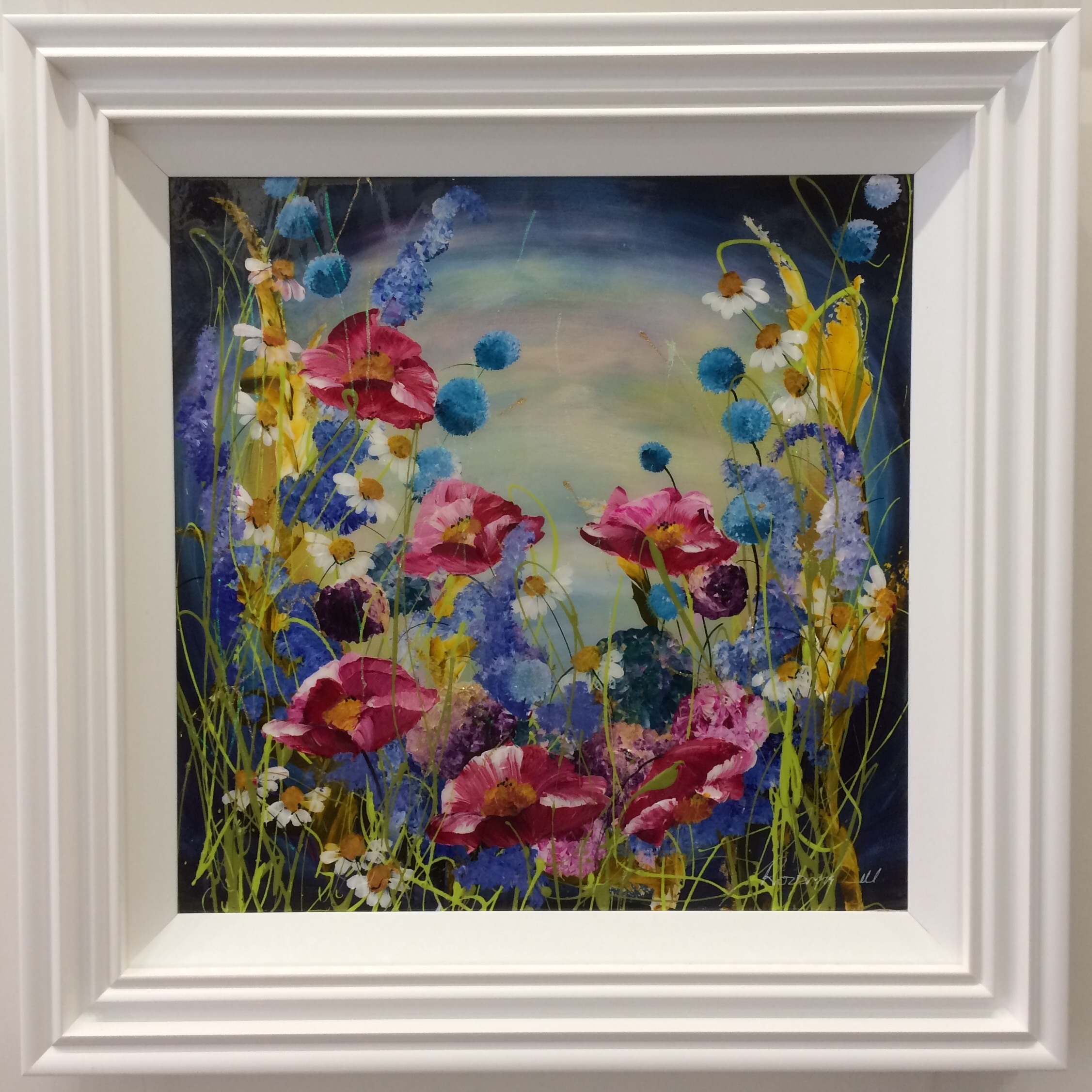 Floral 24 x 24 by Roz Bell