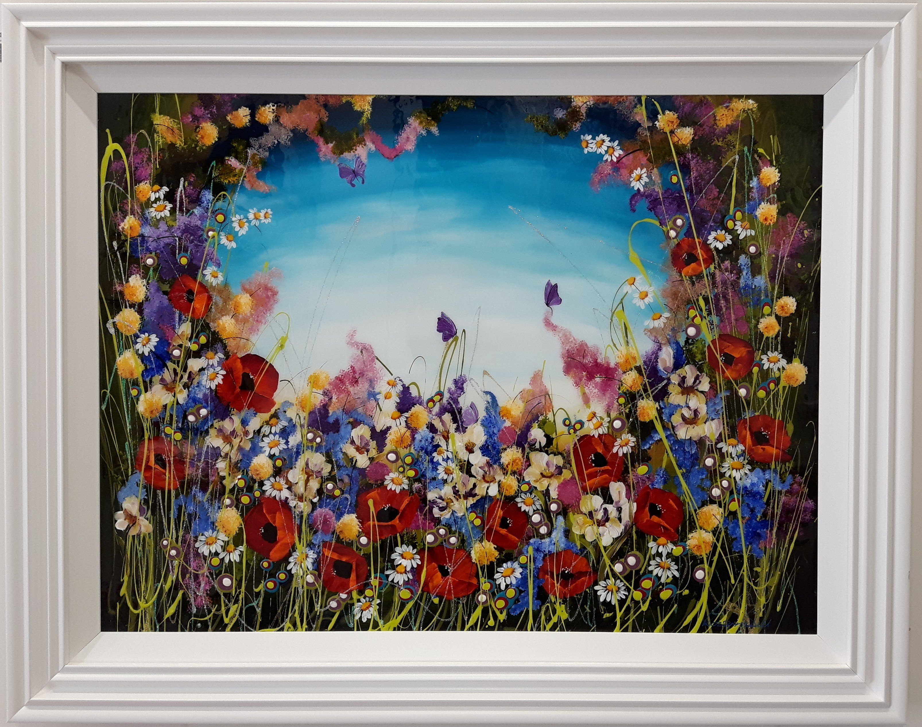 Floral Burst II by Roz Bell