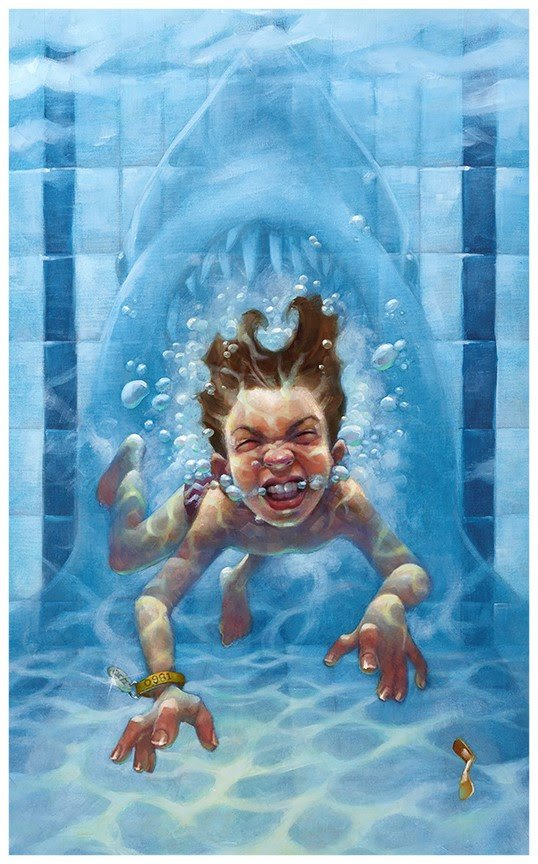Get Out of the Water - Canvas by Craig Davison
