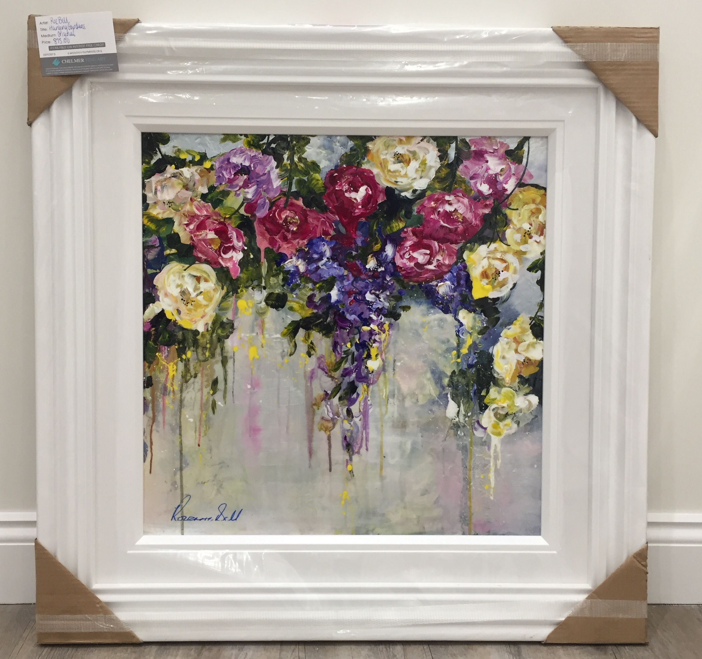 Hanging Garden 24 x 24 by Roz Bell