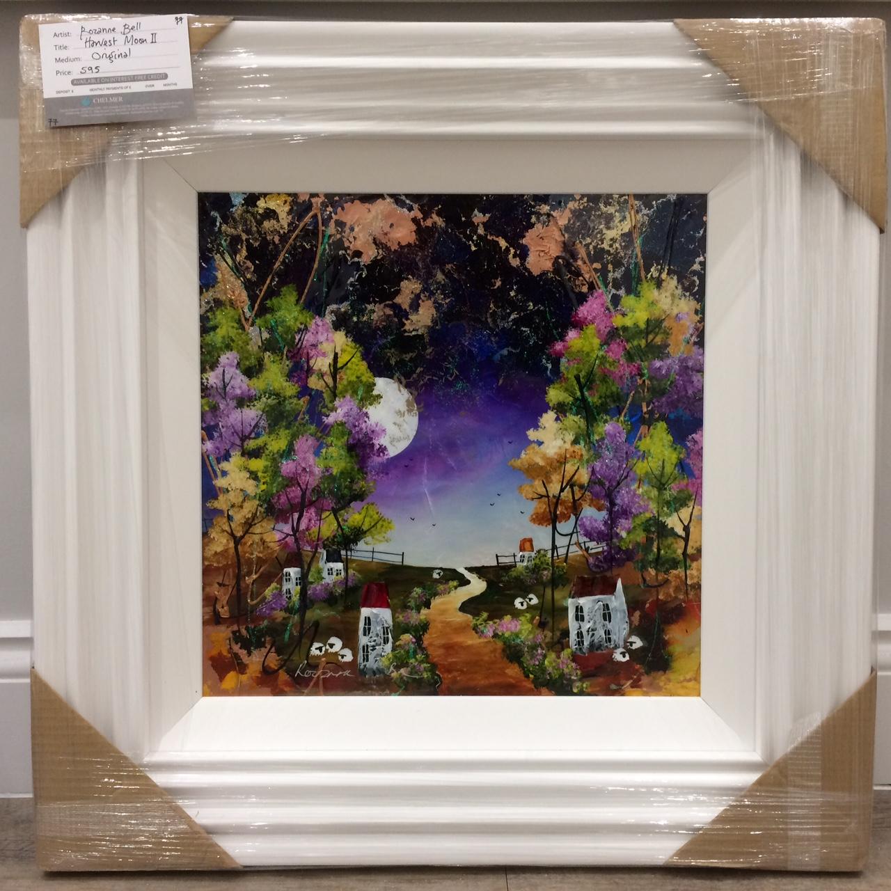 Harvest Moon II (16 x 16) by Rozanne Bell