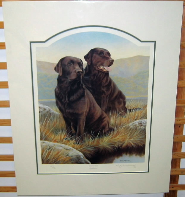 Hot Chocolate - Chocolate Labradors by Nigel Hemming