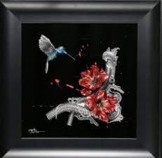Hummingbird Study XVIII (Canyon Red) by Dan Lane