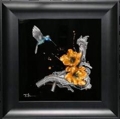 Hummingbird Study XVIII (Electric Yellow) by Dan Lane