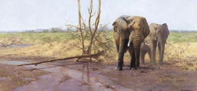 In The Masai Mara by David Shepherd