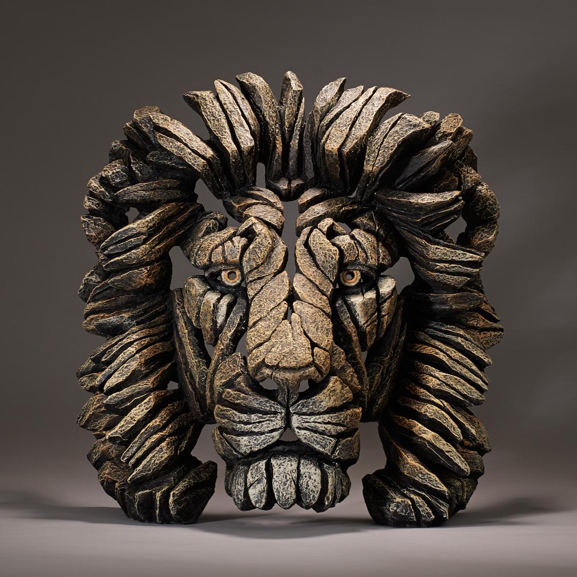 Lion Bust - Savannah by Edge Sculptures by Matt Buckley