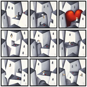 Love Will Always Find You (9 Box Canvases) by Peter Smith