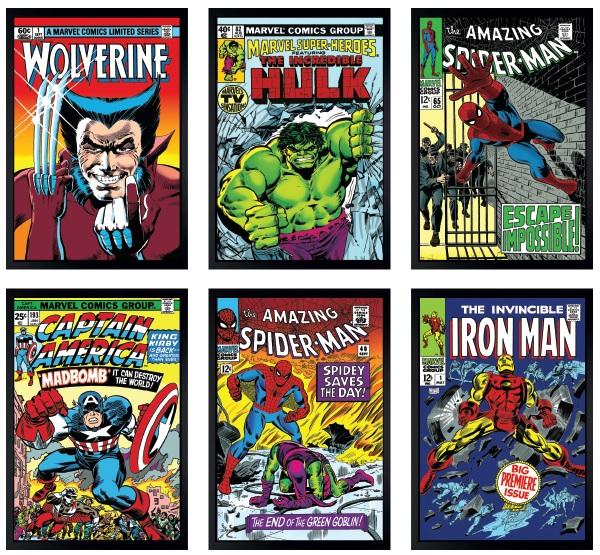 Marvel Super Heroes Set of 6 Canvas by Stan Lee  Marvel Comics
